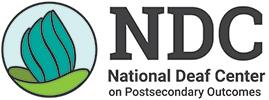 Growing plant  logo of NDC National Deaf Center on Postsecondary Outcomes