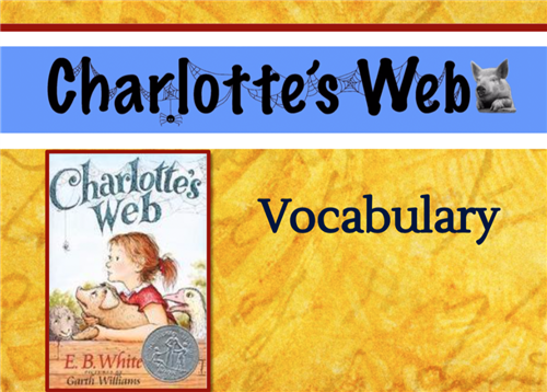 Charlotte's Web Vocabulary First Slide