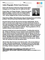 The Strange Case of Dr. Jeckyll and Mr. Hyde biography Worksheet