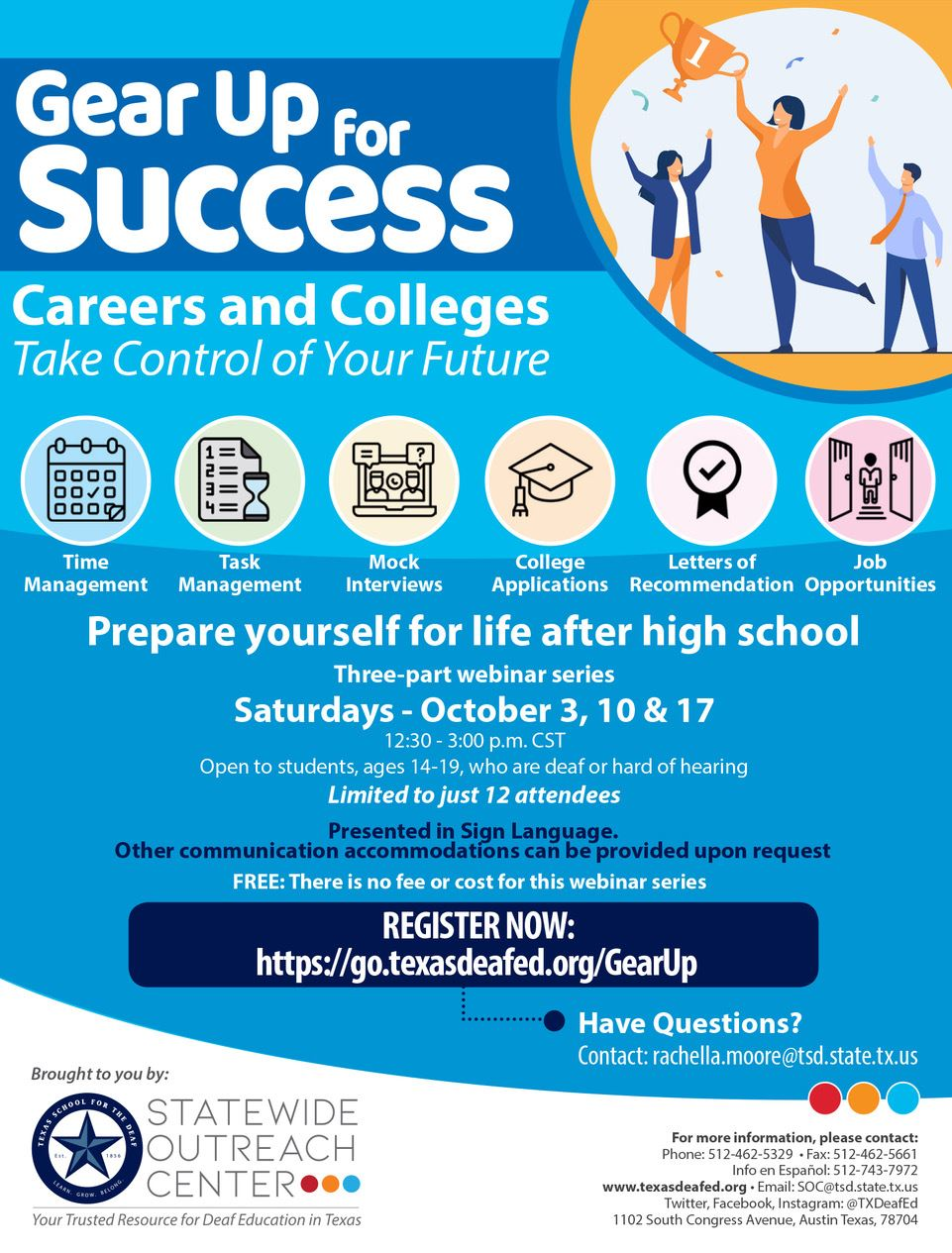 Gear Up for Success Flyer