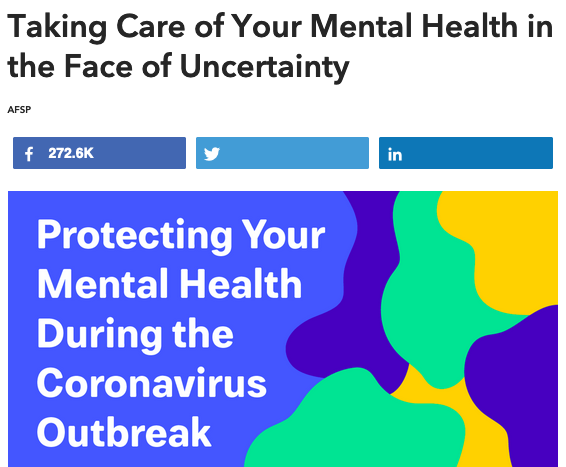 Taking Care of your Mental Health in the Face of Uncertainty Article
