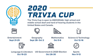 2020 Trivia Cup with list of events/dates. Link to more information.